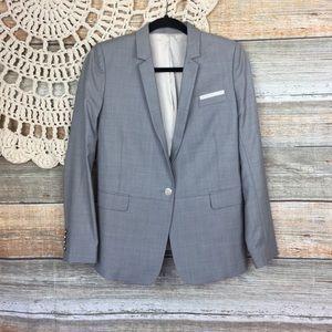 The Kooples | Light Gray Wool Blazer Jacket